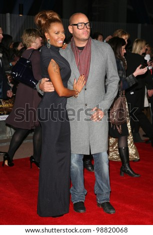 Mel B and Stephen Belafonte arriving at the European Premiere of 'The Hunger Games' at the O2 Arena, London. 14/03/2012 Picture by: Alexandra Glen / Featureflash - stock photo