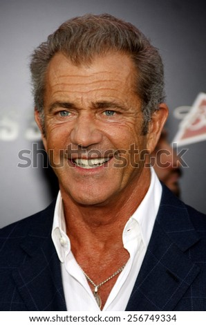 "Mel Gibson at the Los Angeles premiere of ""The Expendables 3"" held at the TCL Chinese Theatre in Los Angeles on August 11, 2014 in Los Angeles, California."