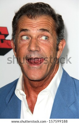 "Mel Gibson at the ""Machete Kills"" Los Angeles Premiere, Regal Cinemas, Los Angeles, CA 10-02-13 - stock photo"