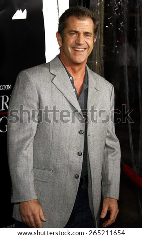 "Mel Gibson attends the Los Angeles Premiere of ""American Gangster"" held at the ArcLight Cinemas in Hollywood, California, United States on October 29, 2007.  - stock photo"