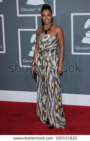 Melanie Fiona at the 54th Annual Grammy Awards, Staples Center, Los Angeles, CA 02-12-12