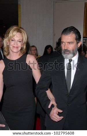 Melanie Griffith and Antonio Banderas at the 24th Genesis Awards, Beverly Hilton Hotel, Beverly Hills, CA. 03-20-10