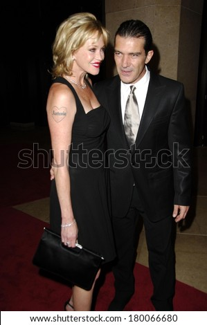 Melanie Griffith, Antonio Banderas at 21st Annual IMAGEN Awards - ARRIVALS, Beverly Hilton Hotel, Los Angeles, CA, August 18, 2006