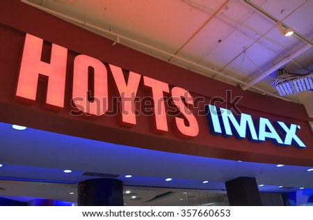MELBOURNE AUSTRALIA - DECEMBER 26, 2015: Hoyts Imax movie cinema. Hoyts is the second largest cinema group in Australia.