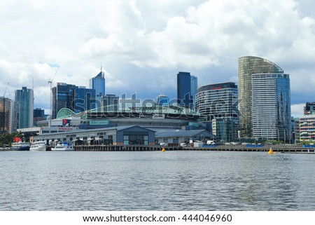 MELBOURNE, AUSTRALIA - JANUARY 31, 2016: Melbourne City Marina at Docklands in Waterfront City, Melbourne, Australia
