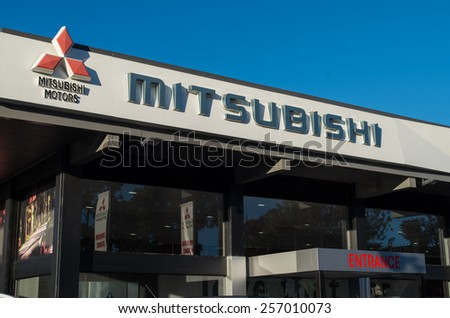 MELBOURNE, AUSTRALIA - January 4, 2015: Mitsubishi Motors manufactured cars in Australia until 2008. Today it is a major importer of vehicles, mainly from Japan, with numerous dealerships.