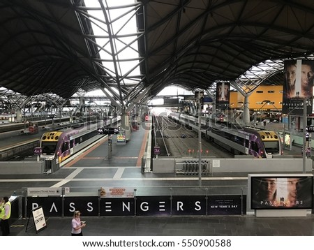 Melbourne, Australia - January 7, 2017: Southern Cross Station, the main public transportation hub in the city of Melbourne