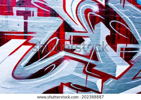 MELBOURNE, AUSTRALIA - JUNE 20 2014: Street art by unidentified artist. Melbourne's graffiti management plan recognizes the importance of street art in a vibrant urban culture