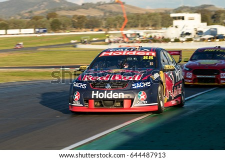 MELBOURNE, AUSTRALIA May 20: Jamie Whincup 88 driving for Triple Eight Race Engineering/Red Bull Holden Racing Team during Race 9 of the The Virgin Australia Supercars Championship