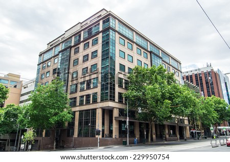 MELBOURNE, AUSTRALIA - November 4, 2014: the Melbourne Magistrates' Court in William Street in central Melbourne.