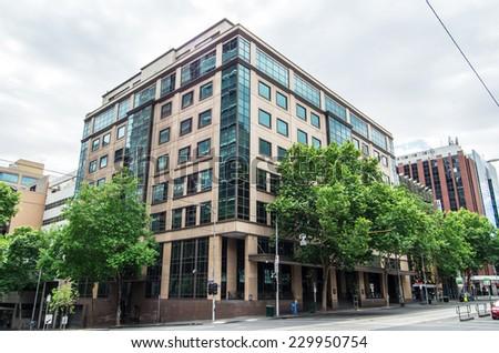 MELBOURNE, AUSTRALIA - November 4, 2014: the Melbourne Magistrates' Court in William Street in central Melbourne. - stock photo