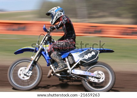 MELBOURNE, AUSTRALIA - October 11 2008: Woodstock 2008 Dirt Bike Master in Taralgon - #384 Coby Willis - stock photo