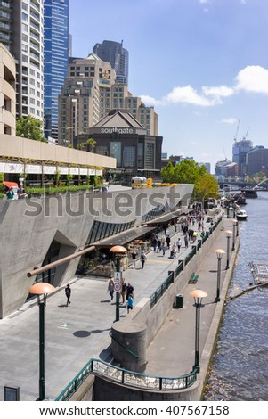 Melbourne, Australia on 25th Jan 2016: Southgate is a restaurant, shopping and entertainment destination located along the banks of the Yarra River in Melbourne