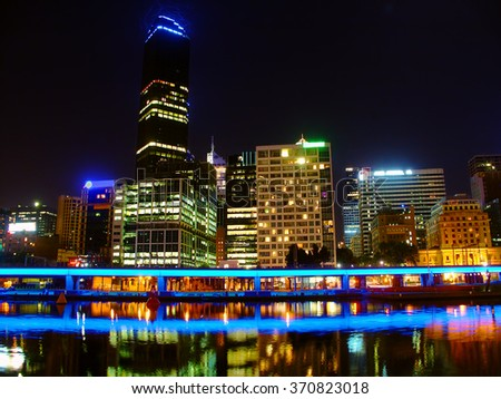 Melbourne Australia on the banks of the Yarra River
