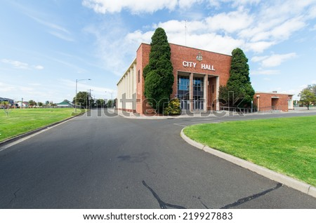MELBOURNE, AUSTRALIA - September 21, 2014: City Hall building in the Melbourne suburb of Springvale