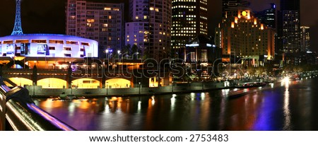 Melbourne, Australia - Southbank area on the Yarra River.