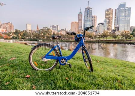 Melbourne Bike - stock photo