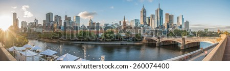 Melbourne city, Victoria, Australia. Panorama view. - stock photo