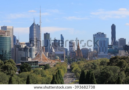 Melbourne Cityscape Australia  - stock photo