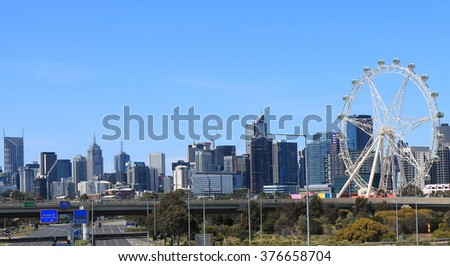 Melbourne cityscape view Australia  - stock photo
