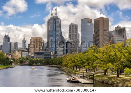Melbourne from across the Yarra River