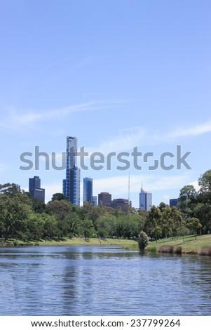melbourne landscape - stock photo