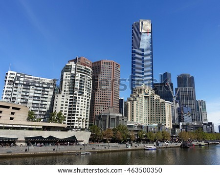 Melbourne VIC, Australia on 31st Mar 2016: Southgate is a restaurant and shopping precinct located along the banks of the Yarra River at the heart of Southbank in Melbournes CBD
