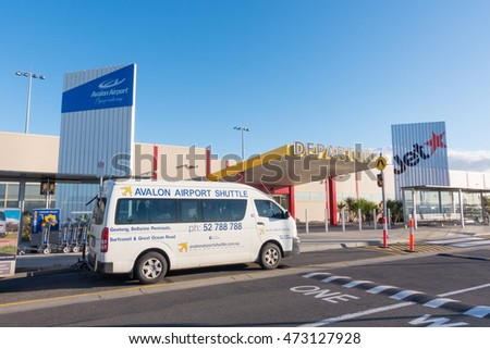 Melbourne, Victoria, Australia - August 4, 2016 : Departure terminal of Melbourne (avalon) Airport, Melbourne, Australia on Aust 4, 2016. A small airport serving the airline JetStar.