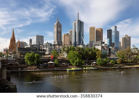 Melbourne, Victoria - Australia Oct 2015 - Melbourne center business district.