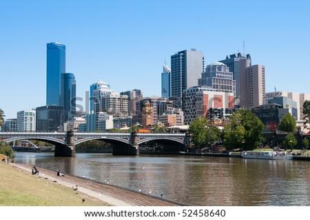 Melbourne, Victoria cityscape - stock photo