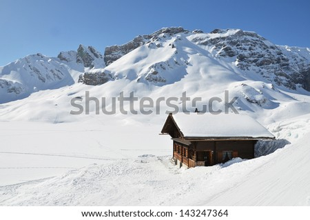 Melchsee-Frutt, Switzerland - stock photo