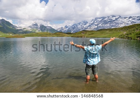 Melchsee, Switzerland - stock photo