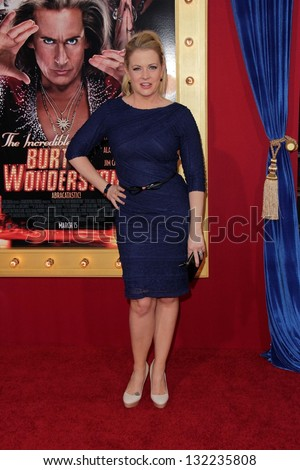 "Melissa Joan Hart at the World Premiere of ""The Incredible Burt Wonderstone,"" Chinese Theater, Hollywood, CA 03-11-13"