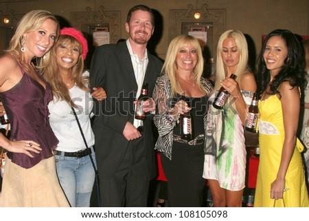 "Melissa Mojo Hunter, Valentina, William Walton, Shauna Sand and Carmen Perez  at the world premiere screening of ""No Bad Days"". Egyptian Theatre, Hollywood, CA. 07-08-08 - stock photo"