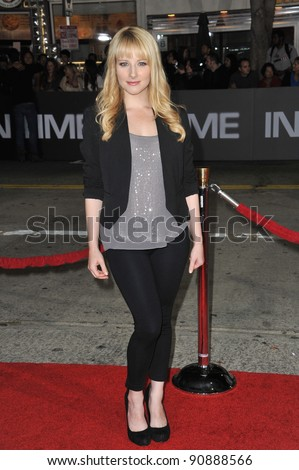 "Melissa Rauch at the Los Angeles premiere of ""In Time"" at the Regency Village Theatre, Westwood. October 20, 2011  Los Angeles, CA Picture: Paul Smith / Featureflash"