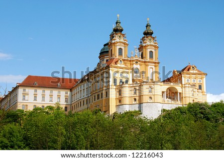 Melk monastery,world heritage,abbey in Austria - stock photo