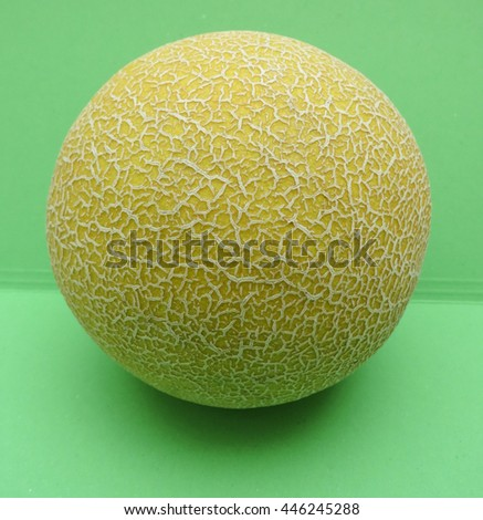 Melon Galia (Cucumis melo var. reticulatus) fruit vegan food - stock photo