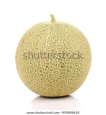 Melon , Melon slices isolated on white background. - stock photo