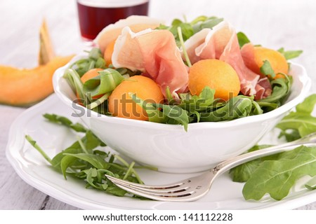 melon salad - stock photo