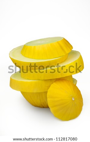 Melon slices on each other
