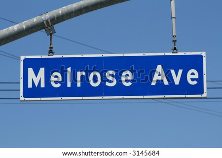 Melrose Avenue Sign - stock photo