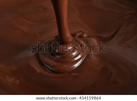 Melted chocolate background - stock photo