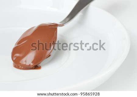Melted chocolate spoon