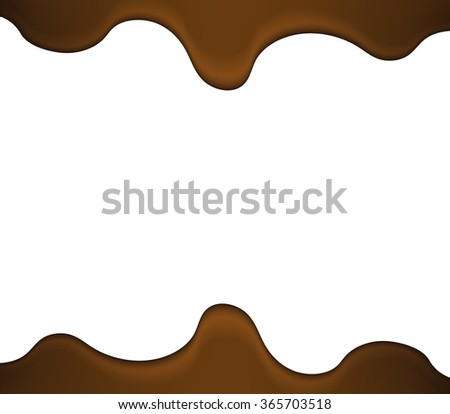 melted liquid chocolate