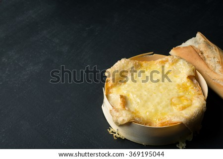 Melted oven Cheese - stock photo