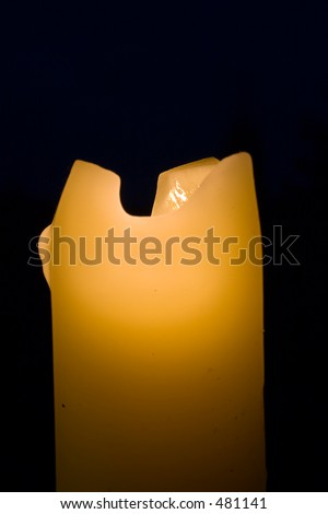 Melting candle at night #1 - stock photo