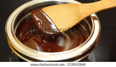 Melting Chocolate - stock photo
