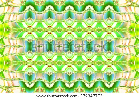 Melting colorful artistic horizontal ornament for carpets, textile, ceramic tiles and backgrounds. Aspect ratio 3:2