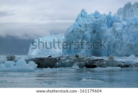 Melting glaciers - stock photo