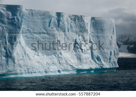 Melting Ice off the coast of Brown Bluff, on the tip of the Antarctic Peninsula.